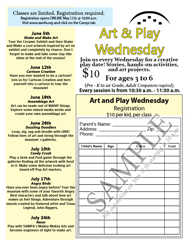 Camps :: San Angelo Museum of Fine Arts