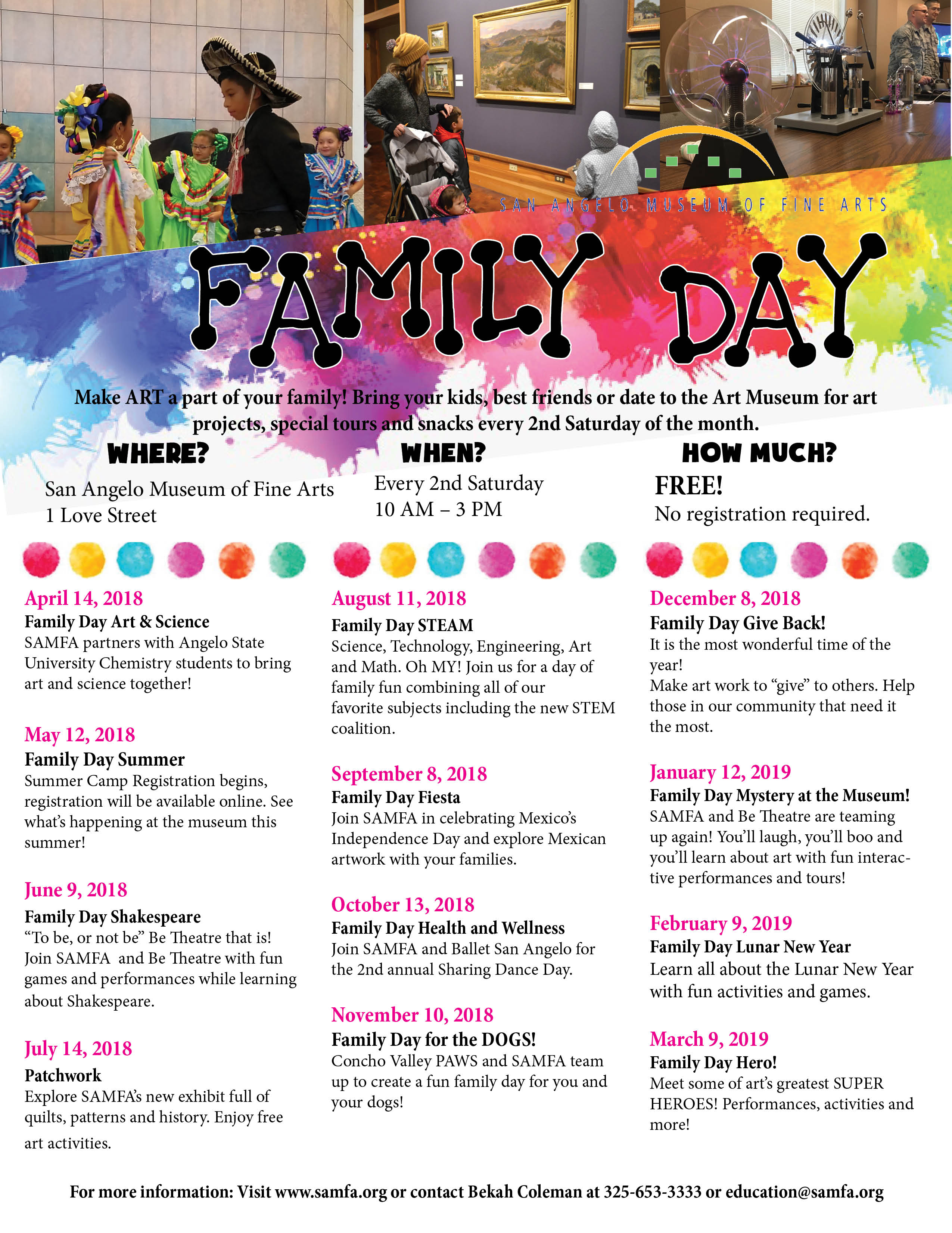 Family Day San Angelo Museum Of Fine Arts