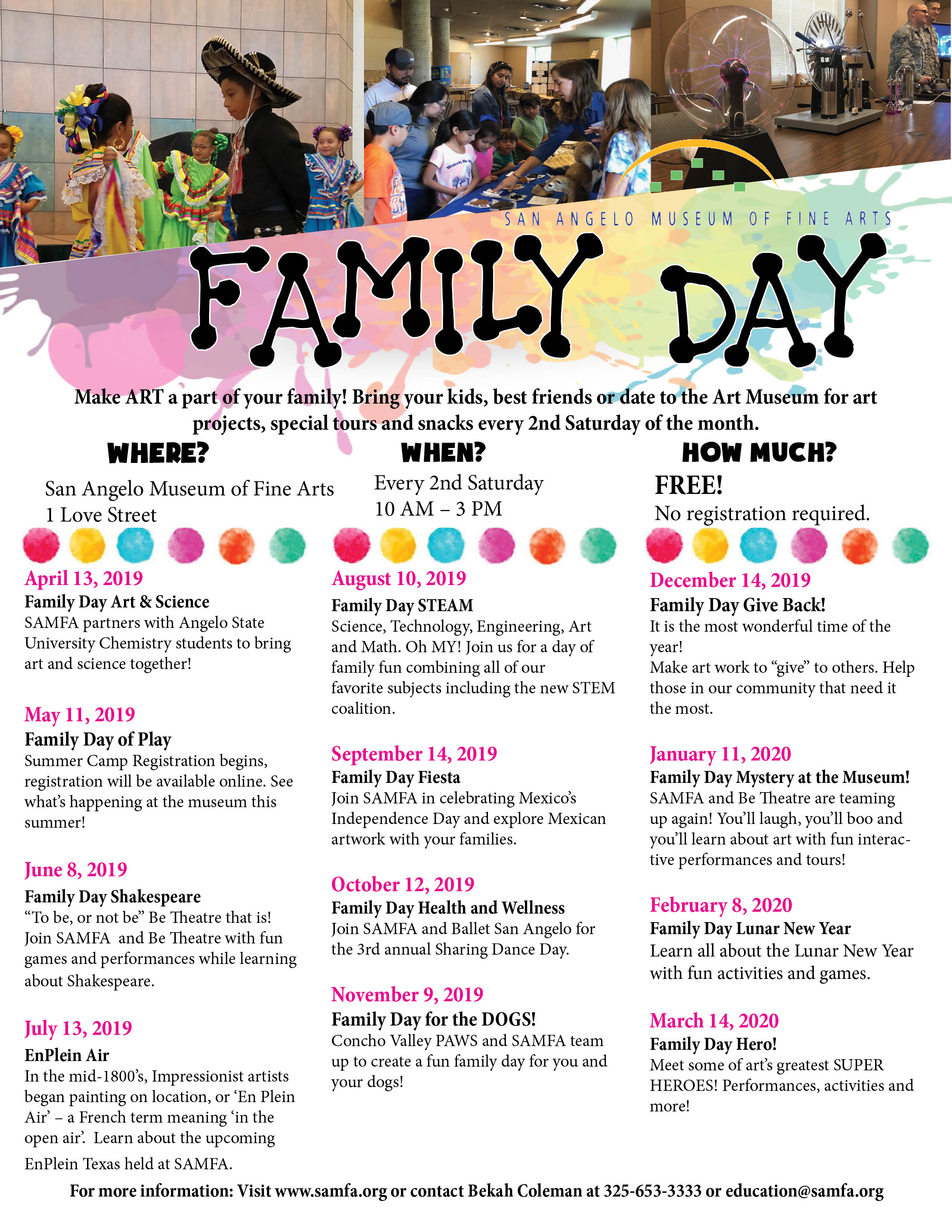 Family Day :: San Angelo Museum of Fine Arts